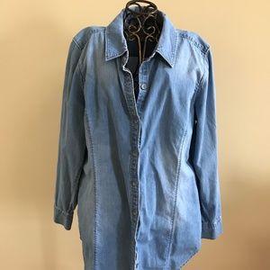 J. Jill Women's Denim Button Down Shirt